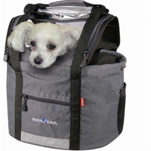 Rixen & Kaul Doggy Handlebar Bag - Grey - Without Kf850 Adapter -  rixen kaul doggy handlebar bag without kf850 adapter grey