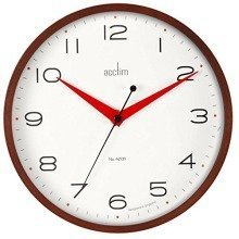 Acctim Carnegie Wall Clock Dark Wood - 22cm - Silent Movement