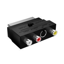 Act SCART Adapter SCART to RCA/Component/Composite Phono AV Cable Switchable AV/RCA/Composite to SCART Connector