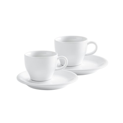 KAHLA Cafe Sommelier Cappuccino Italiano, White Color,  Set of 4 Pieces