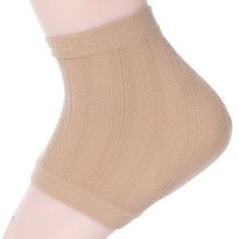 One pair,Heel Protector Soft Socks Ankle Support Plantar Fasciitis Sleeve khaki