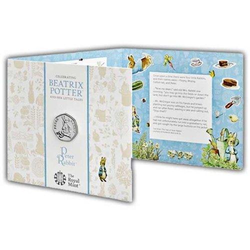 Peter Rabbit 2018 UK 50p Brilliant Uncirculated Coin