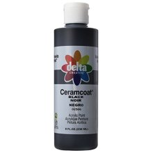 Delta Creative Ceramcoat Acrylic Paint in Assorted Colors (8 oz), 025068, Black