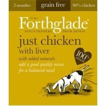 FORTHGLADE NATURAL MENU (CHICKEN With LIVER) 18 x 395g trays Grain Free