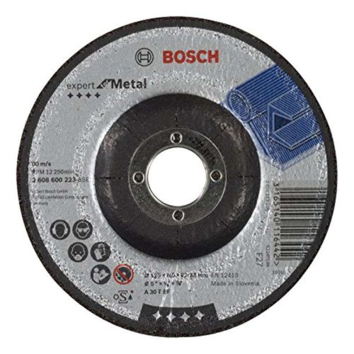 Bosch 2608600223 125mm Metal Grinding Disc with Depressed Centre