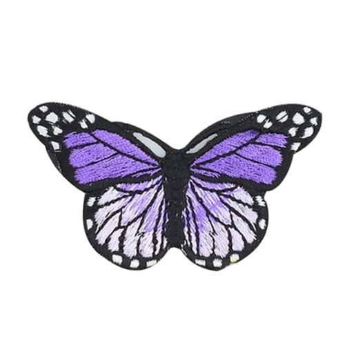 6PCS Embroidered Fabric Patches Sticker Iron Sew On Applique [Butterfly G]