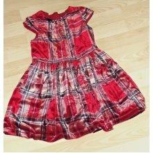 Brand New NEXT Toddler Girl Dresss age 4 Years velvet Red tartan