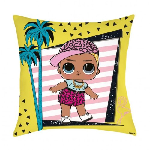 LOL SURPRISE Square PALM TREE DESIGN Pillow Cushion 40cm x 40cm