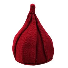 Fashion Winter Baby Kids Warm Hats Crochet Caps Toddler Comfortable Hat Best Gift-Wine Red