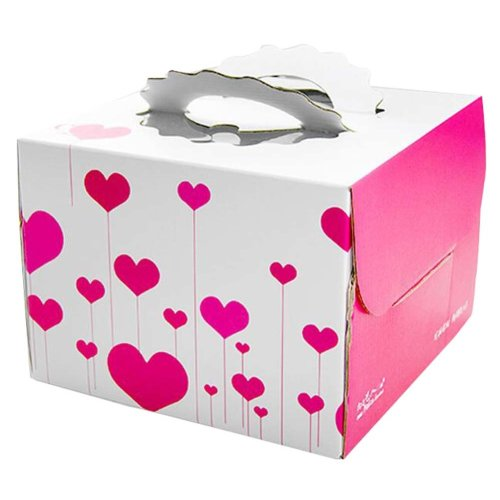 Set Of 2 Fashion Square Cake Boxes Birthday Cake Boxes Paper Box Heart