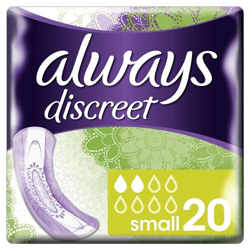 Always Discreet Sensitive Bladder Incontinence Pads Small Odour Lock Pack of 20