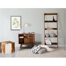 Bookcase - Bookshelf - Ladder Shelf - Brown - MOBILE TRIO