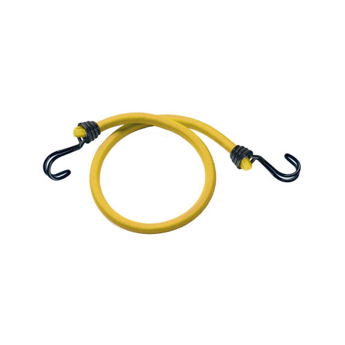 Master Lock 2 Pack Of 100cm Twin Wire Bungee Cords - Yellow - Cord Master Set -  bungee wire 2 twin cord master lock 100cm yellow masterlock pack set
