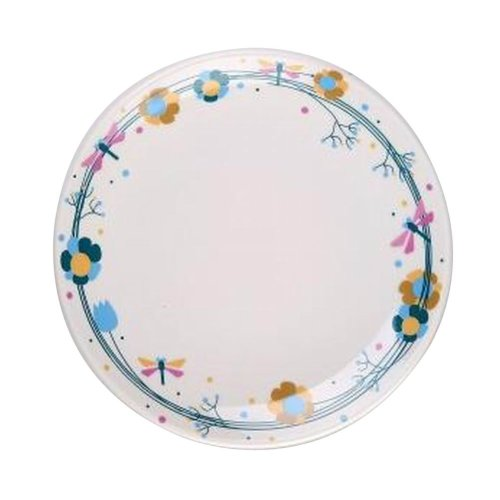 Set of 2 Ceramic Dinner Plates Beautiful Ceramic Dishes Steak Plate, Dragonfly