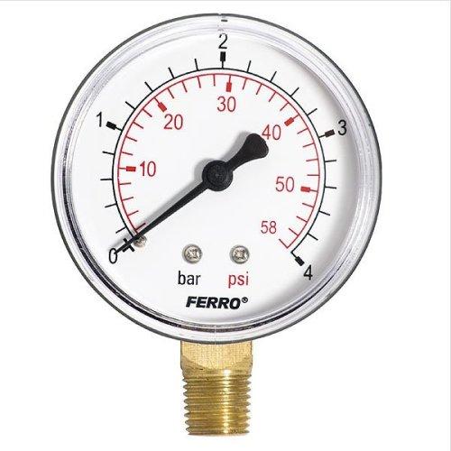 "60mm 4bar 60psi Pressure Gauge Air Oil or Water 1/4 ""bspt Side Entrance Manometer"