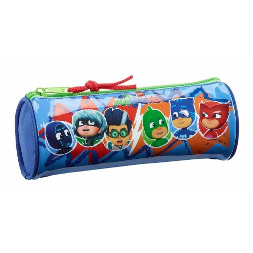 """P J Masks """"World"""" Official Round Pencil Case, for School"""