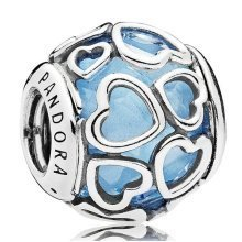 Pandora Blue Encased in Love Charm - 792036NBS