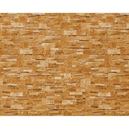 EDEM 918-31 wallpaper XXL non-woven textured stone decor red brown   10.65 sqm
