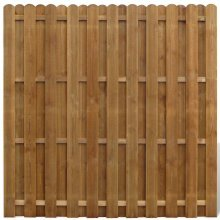Vertical Wooden Hit & Miss Fence Panel