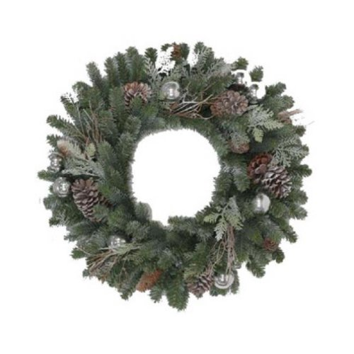 Polygroup 209349 Hw 24 in. Frost Art Wreath GD20P2045X00