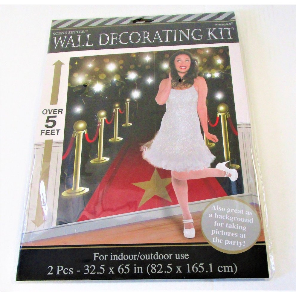 Hollywood Red Carpet Scene Setter Decoration Wall kit birthday party