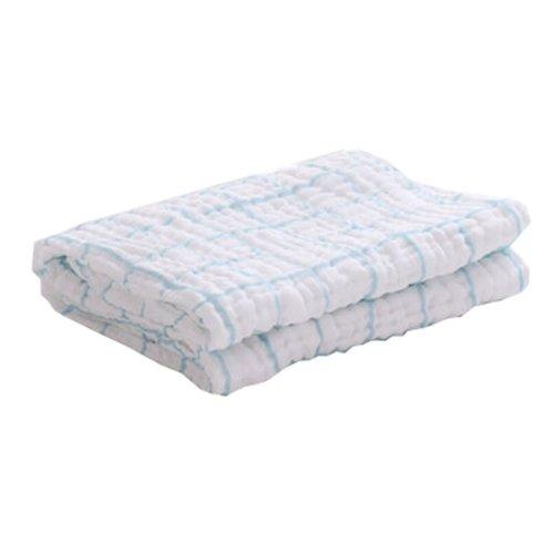 "Baby/Kids Soft Absorbent Cotton Bath Towel Newborns Blanket 0-3 Years 45.27""x45.27""(White-3)"