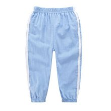 Comfortable Soft Children's Trousers, Light Blue And White