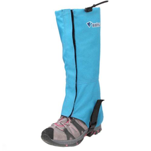 1 Pair Outdoors Waterproof Shoe Gaiters Windproof Binding Foot Strap Blue