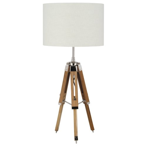 Pacific Lifestyle Wood Tripod Table Lamp Base, Natural