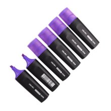 6-pack Fluorescent Pens Student Office Markers Wide-barreled Highlighters Purple