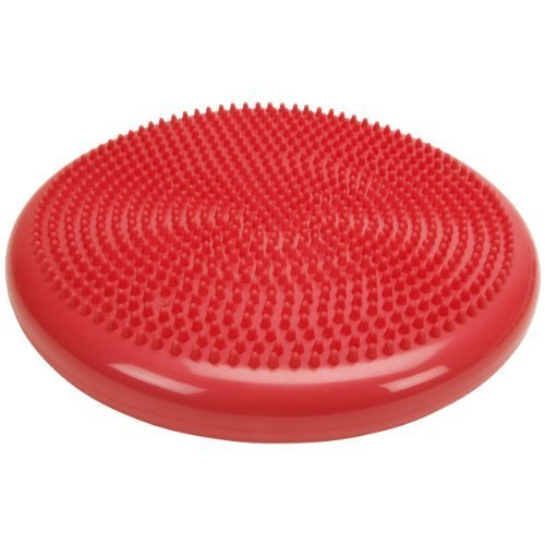 Cando 30-1870R Red Inflatable Vestibular Disc, 13-51/64 Diameter, 300 lbs Weight Capacity