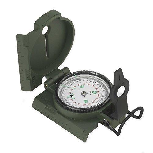 NDuR Lightweight Plastic Lensatic Compass, Olive