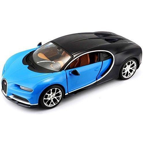 Maisto M31514 1:24 Scale Bugatti Chiron Die-cast Model (colours May Vary) - 124 -  bugatti chiron maisto 124 model diecast scale car 31514 blue black