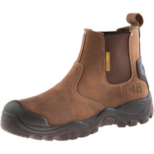 Buckler BSH006BR Safety Dealer Work Boots Brown (Sizes 6-12) Men's Steel Toe Cap