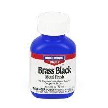 Birchwood Casey Brass Black 3oz liquid - black metal finishing antiques plaques