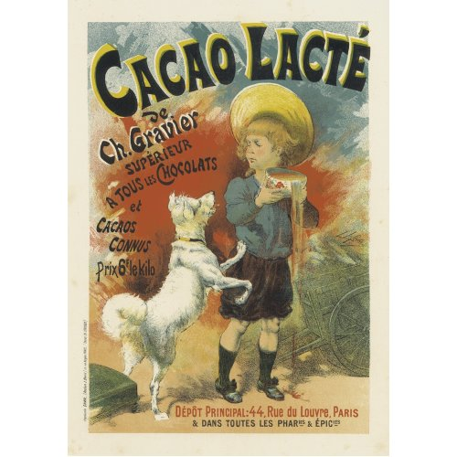 Advertising poster - Cacao Lacté - High definition printing on stainless steel plate