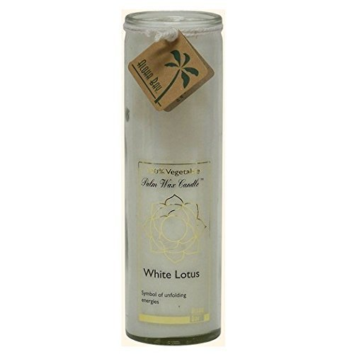 Aloha Bay  White Lotus Chakra Jar Candle Unscented  17 oz