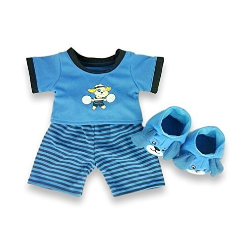 e9b19247e Build Your Bears Wardrobe 15-Inch Clothes Fit Build Bear Dog PJs with  Slippers (Blue) on OnBuy