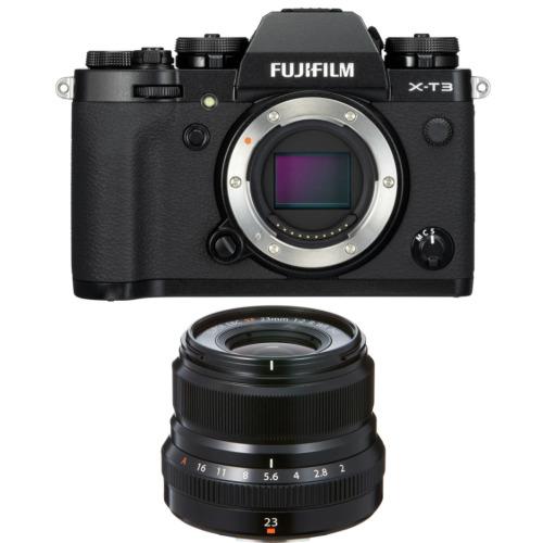FUJI X-T3 Black + XF 23MM F2R WR Black