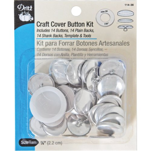 Dritz Craft Cover Button Kits W/Tools-Size 36 14/Pkg