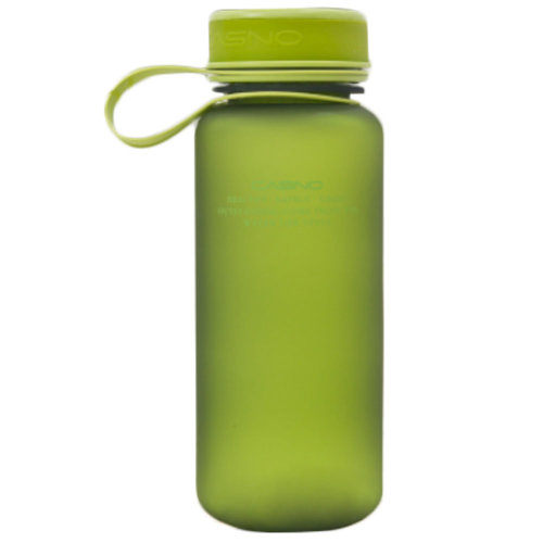 20-Ounce Minimalist Leakage-Proof Water Bottle with Carrying Strap,Frosted/Green