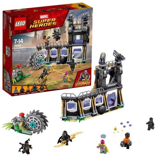 LEGO UK - 76103 Marvel Super Heroes Corvus Glaive Thresher Attack Superhero Toy