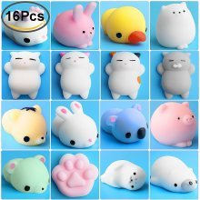 Mochi Squishy, Outee 16 Pcs Animal Squishies Mochi Squeeze Toys
