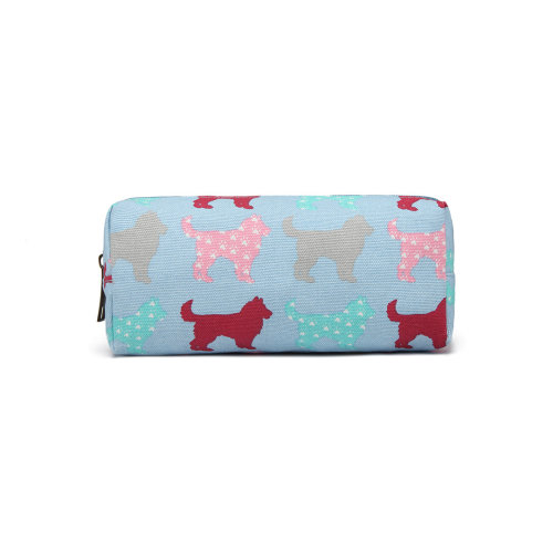 Miss Lulu Canvas Boys Girls School  Pencil Case Dog