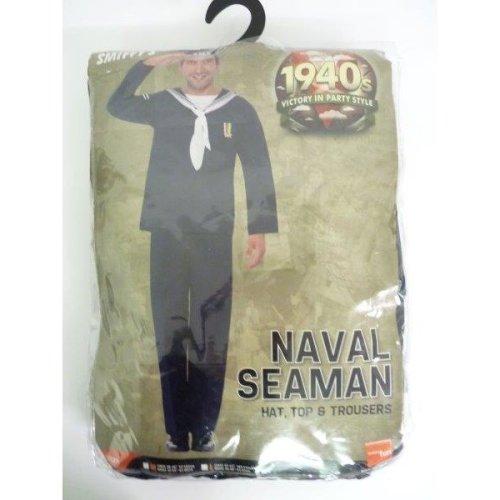 Large Naval Seaman Costume - naval seaman costume fancy dress mens navy outfit 1940s sailor uniform  sc 1 st  OnBuy & Large Naval Seaman Costume - naval seaman costume fancy dress mens ...