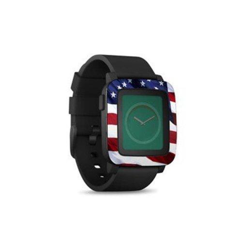 DecalGirl PSWT-PATRIOTIC Pebble Time Smart Watch Skin - Patriotic