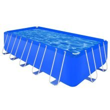 Above Ground Swimming Pool Steel Rectangular 540 x 270 x 122 cm