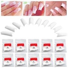 Trixes 500 White French False Acrylic Nail Art Tips