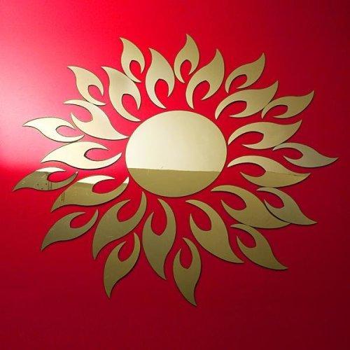 Acrylic 3D Sunflower Mirror Effect Wall Sticker Decal