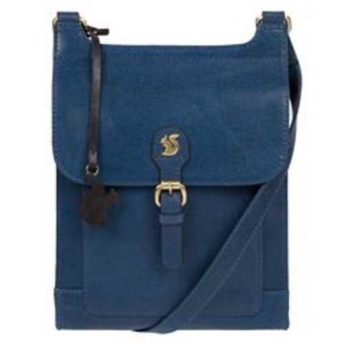 0d524acdaa CONKCA LONDON SNORKEL BLUE  SASHA  HANDMADE LEATHER CROSS-BODY BAG on OnBuy